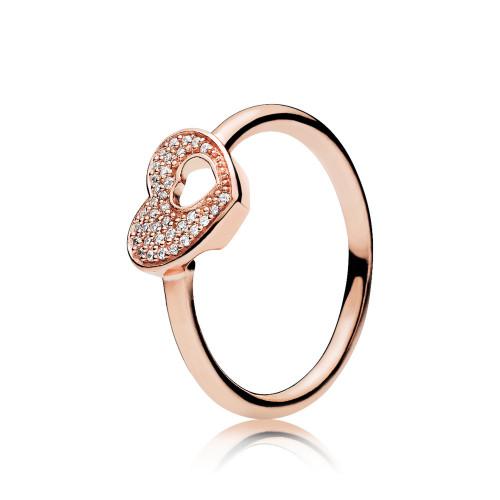 Pandora Shimmering Puzzle Heart Frame Ring - 186550CZ