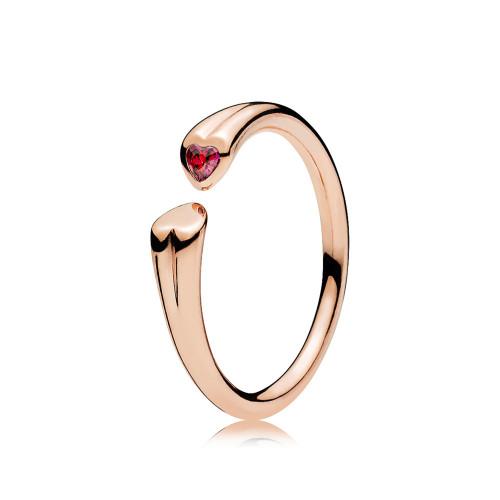 Pandora Zwei Herzen Rosé Ring