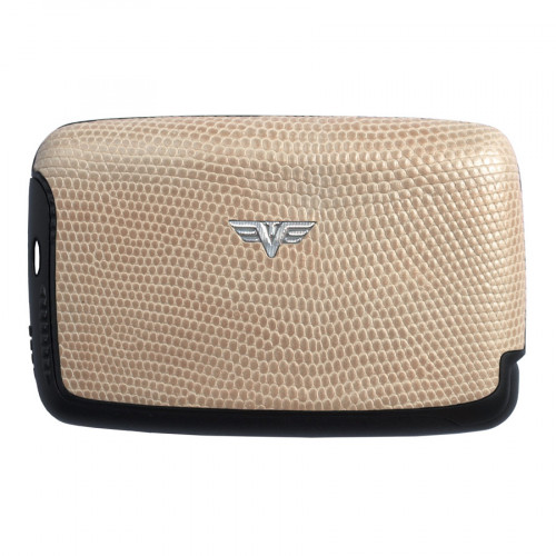 Tru Virtu Card Case Saffiano Whitegold Tassel - 20.10.4.0051.03