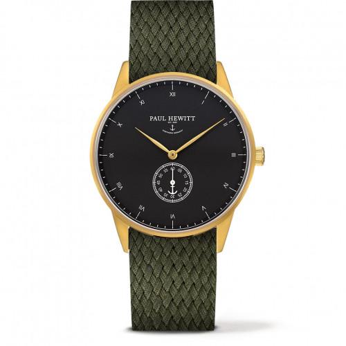 Paul Hewitt Signature Line Black Sea Gold Perlon Olive Green - PH-M1-G-B-20