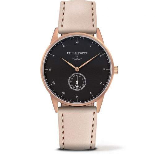 Paul Hewitt Signature Line Black Sea Rose Gold Leather Hazelnut - PH-M1-R-B-22