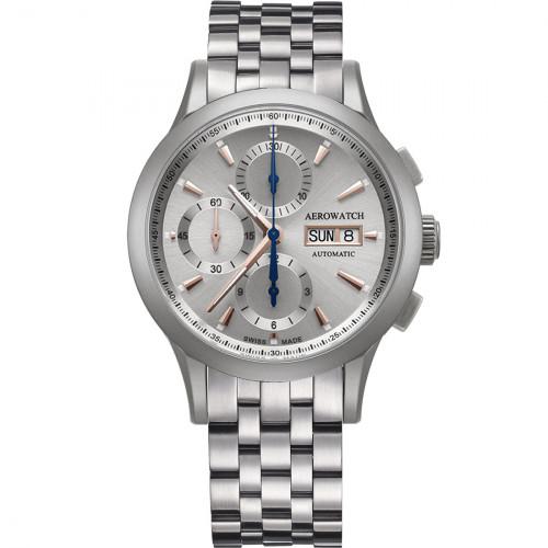 Aerowatch Les Grandes Classiques Chrono Automatic - A 61968 AA02 M + CUIR