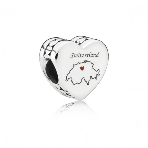 Pandora Swiss Map Charm - 792015_E004