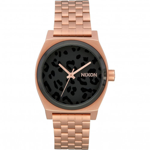 Nixon Medium Time Teller All Rose Gold Black Cheetah - A1130-3003-00