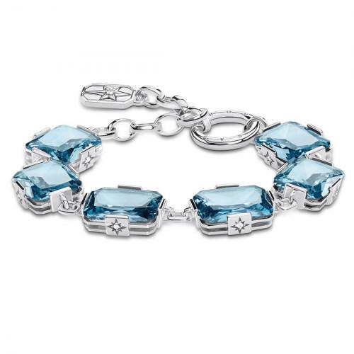 Thomas Sabo Armband Große Blaue Steine - A1911-644-31-L19v