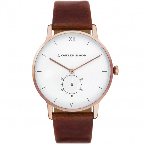 Kapten & Son Heritage Rose Gold Brown Leather - CF00A0103F22A