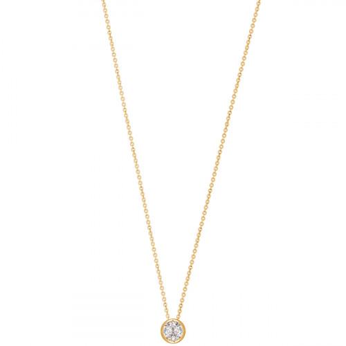 Xenox Silver Circle Halskette - XS7282G