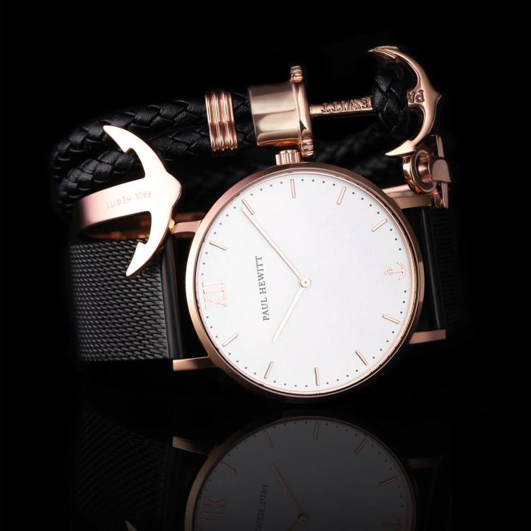 paul hewitt anchor bracelet phrep rose gold black ph ph. Black Bedroom Furniture Sets. Home Design Ideas