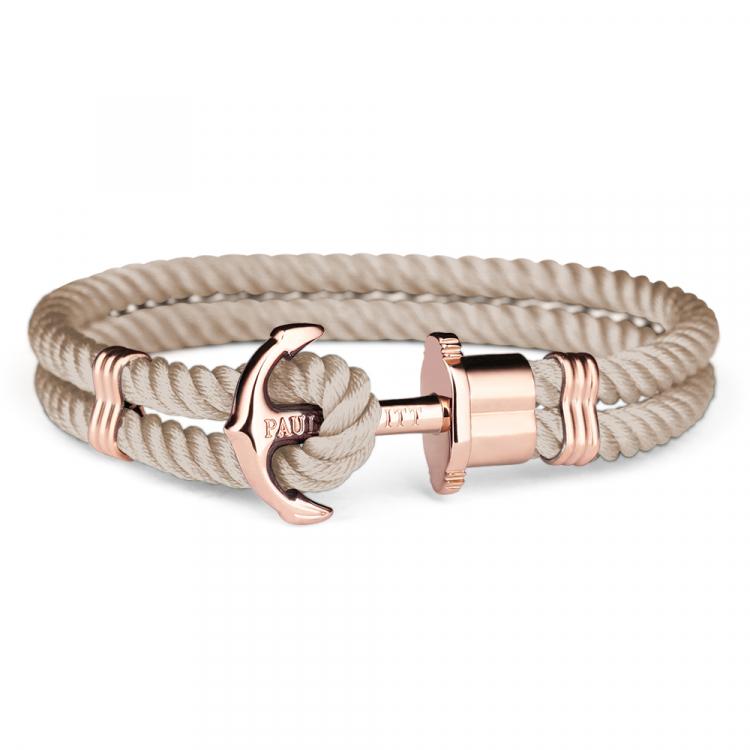 paul hewitt anchor bracelet phrep rose gold nylon hazelnut. Black Bedroom Furniture Sets. Home Design Ideas