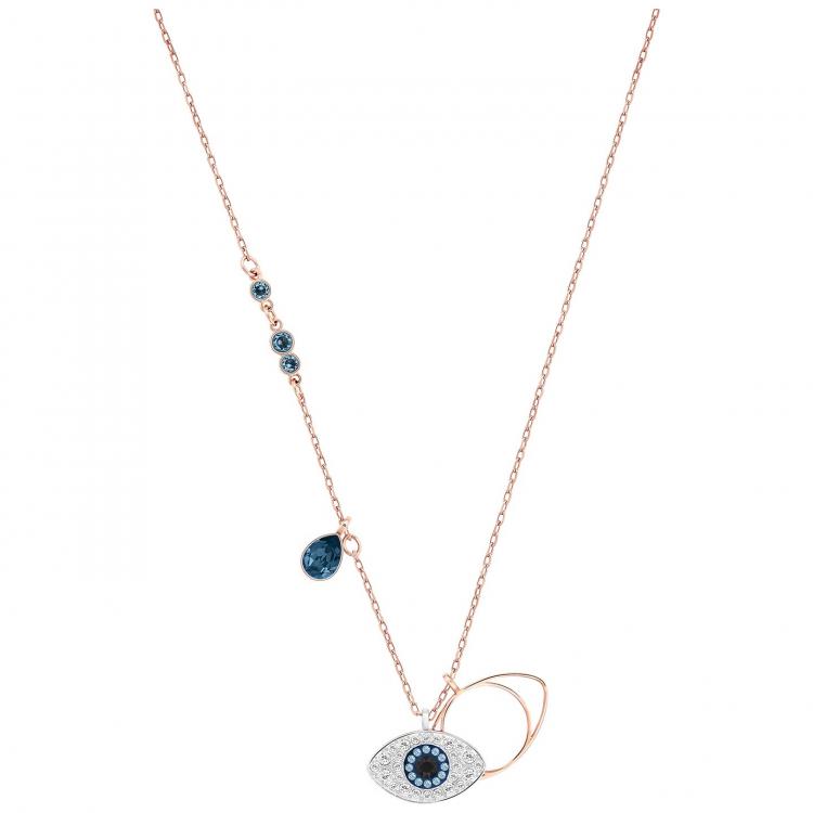 74b1a84f7a5398 Swarovski Duo Evil Eye Halskette - 5172560 - Helen Kirchhofer