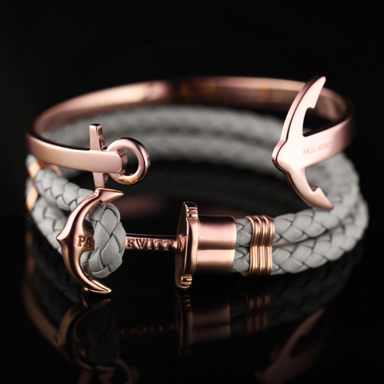 paul hewitt anchor bracelet phrep rose gold grey ph ph l. Black Bedroom Furniture Sets. Home Design Ideas