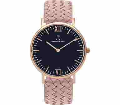 Kapten & Son Black Rose Woven Leather