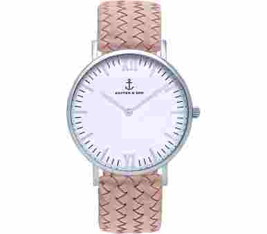 Kapten & Son Silver Rose Woven Leather