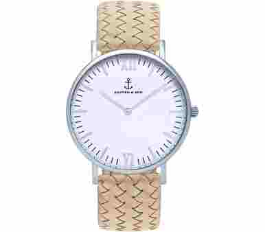 Kapten & Son Silver Sand Woven Leather