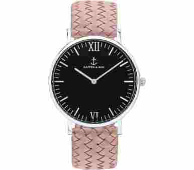 Kapten & Son Silver Black Rose Woven Leather