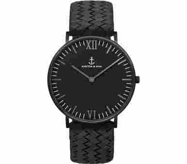 Kapten & Son Black Midnight Woven