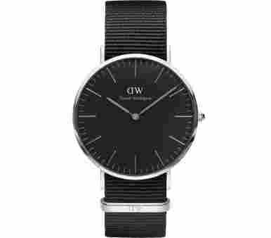 Daniel Wellington Classic Black Cornwall Silver