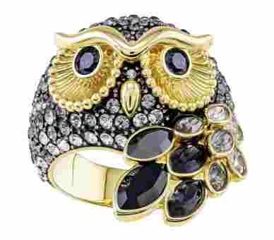 Swarovski March Owl Ring