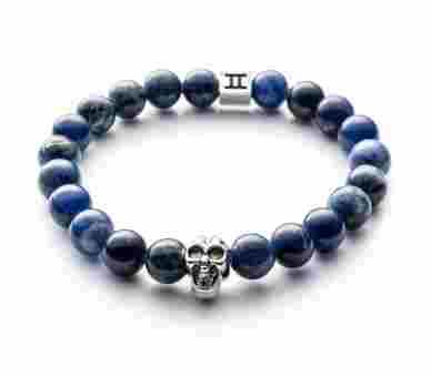 Gemini Classic Sodalite Skull Blue - C2