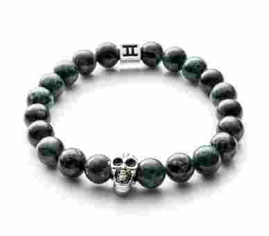 Gemini Classic Jasper Skull Green - C3