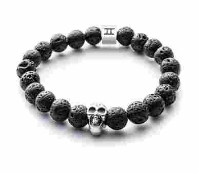 Gemini Classic Lava Stone Skull Black Lava - C6