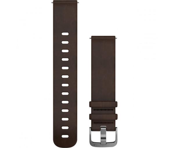 Garmin Quick Release (20 mm) Dark Brown Leather - 010-12691-01