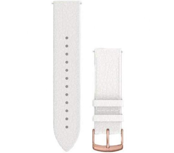 Garmin Quick Release (20 mm) White Italian Leather Band - 010-12691-0B