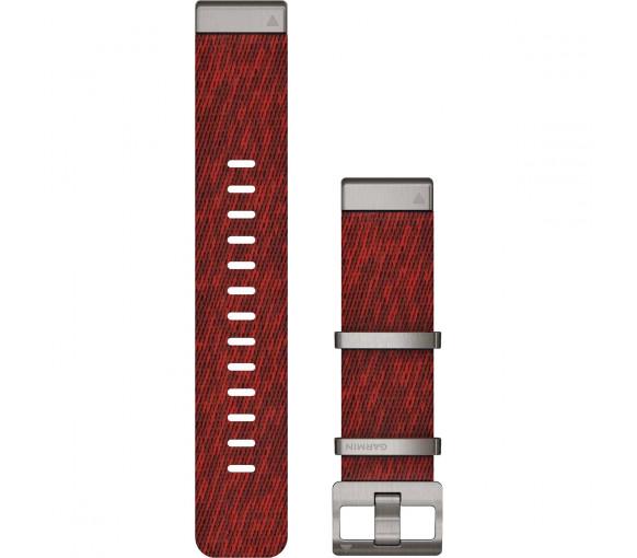 Garmin MARQ QuickFit 22 Jacquard-weave Nylon Red Band - 010-12738-22