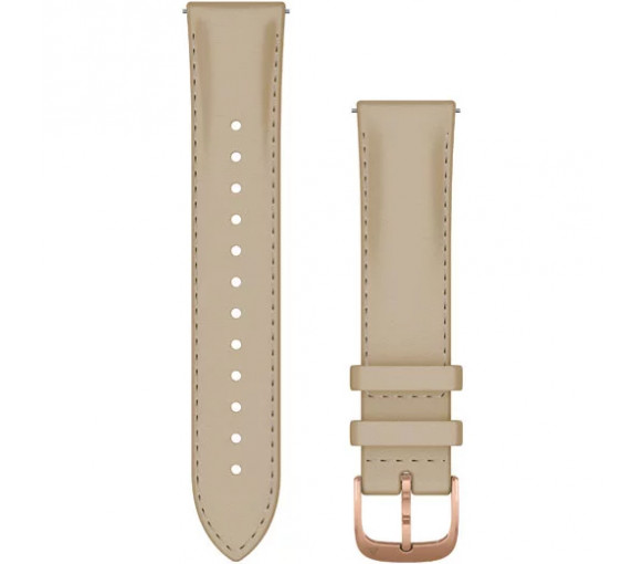 Garmin Quick Release (20 mm) Light Sand Leather Band - 010-12924-21