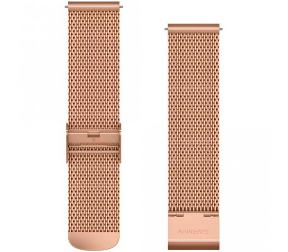 Garmin Quick Release (20 mm) Rose Gold Milanese Band - 010-12924-24