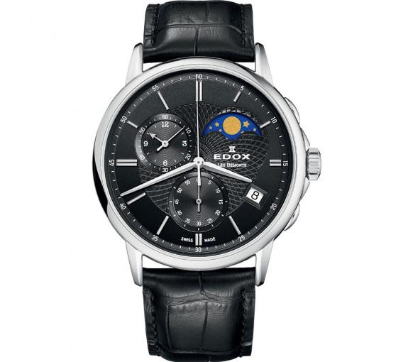 Edox Les Bemonts Chronograph Moon Phase - 01651 3 NIN