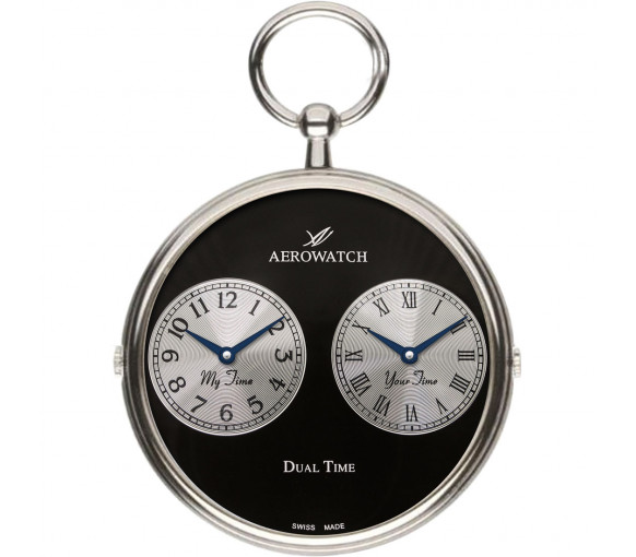 Aerowatch Pocket Watch Collection Dual Time - 05826 PD03