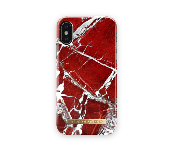 iDeal of Sweden Fashion Case Scarlet Red Marble