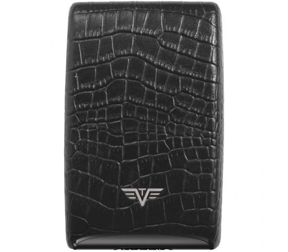 Tru Virtu Credit Card Case Fan Croco Black - 16.10.4.0032.08