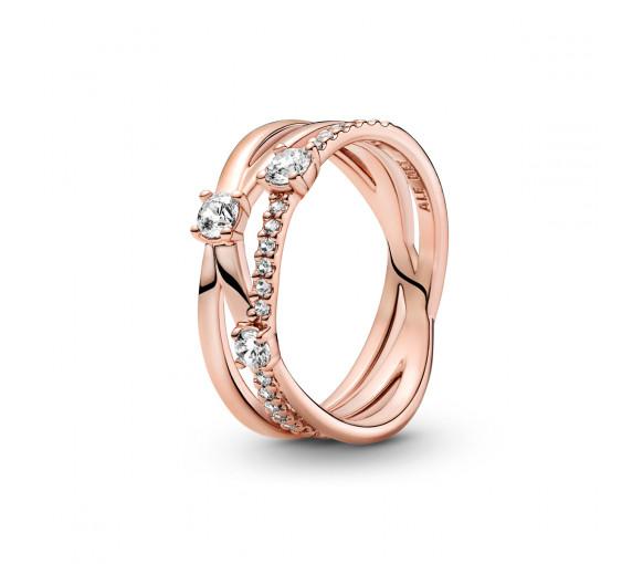 Pandora Rose Sparkling Triple Band Ring - 189400C01