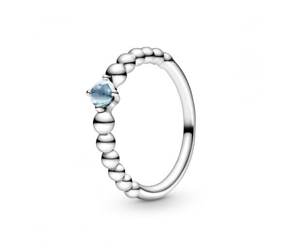 Pandora March Birthstone Beaded Ring - 198867C01