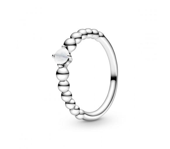 Pandora April Birthstone Beaded Ring - 198867C04