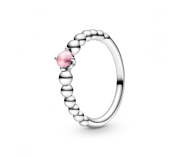 Pandora October Birthstone Beaded Ring - 198867C09