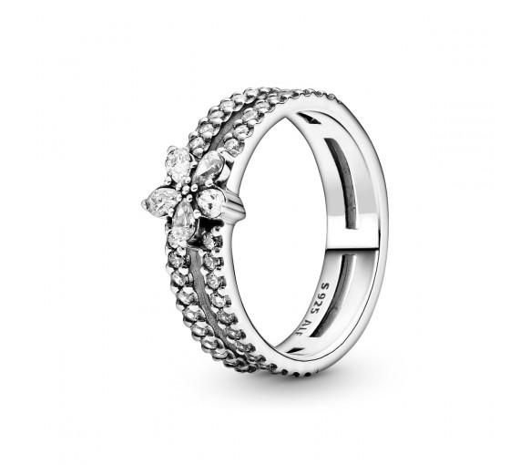 Pandora Sparkling Snowflake Double Ring - 199236C01