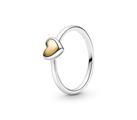 Pandora Domed Golden Heart Ring - 199396C00