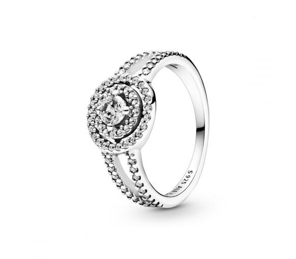 Pandora Sparkling Double Halo Ring - 199408C01