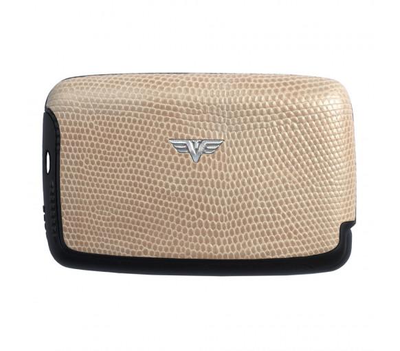 Tru Virtu Card Case Saffiano Whitegold Tassel - 20.10.4.0051.03