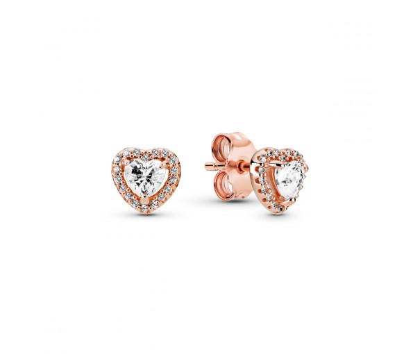 Pandora Rose Sparkling Heart Ohrstecker - 288427C01