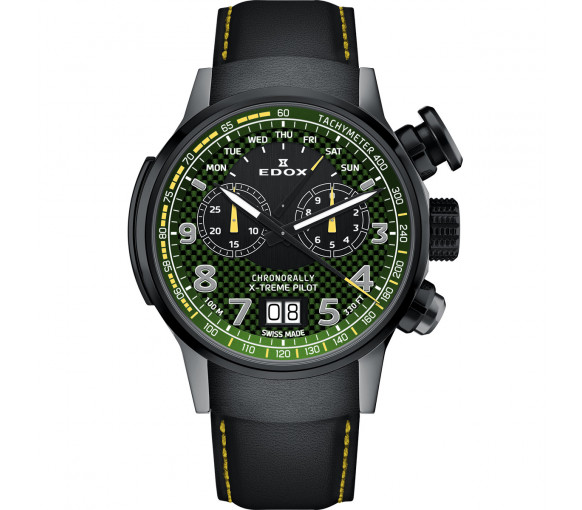 Edox Chronorally X-Treme Pilot Limited Edition - 38001 TINGN V3