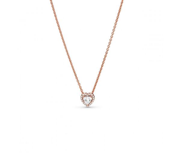 Pandora Rose Sparkling Heart Halskette - 388425C01-45