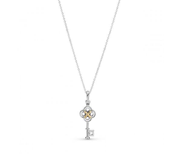Pandora Key & Flower Halskette - 399339C01-70