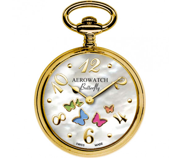 AerowatchPocket Watch Collection Butterfly Pendant - 44825 JA02