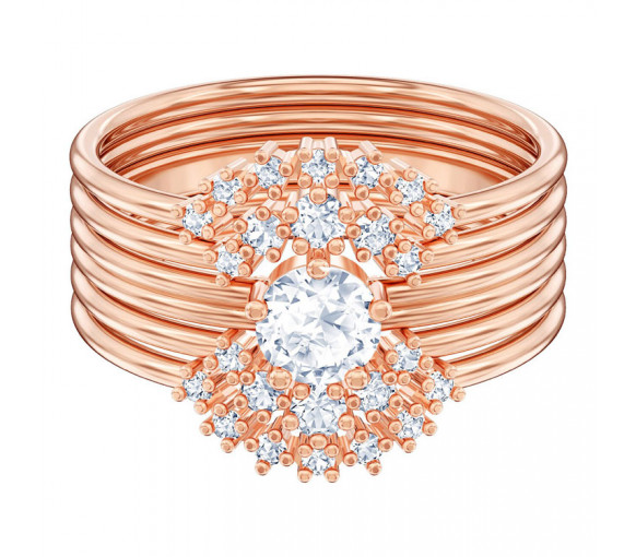 Swarovski Moonsun Ring Set Rosé