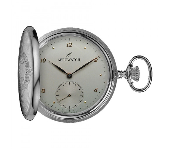 Aerowatch Pocket Watch Collection Mechanical Savonnette - 55645 AG03