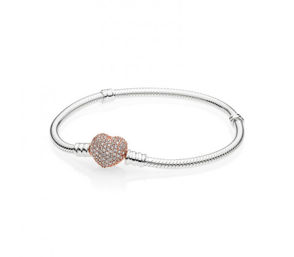 Pandora Armband mit Herzverschluss - 586292CZ